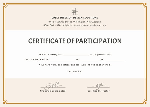 Certificate Of Participation Wording Samples Elegant 61 Psd Certificate Templates Free Psd format Download
