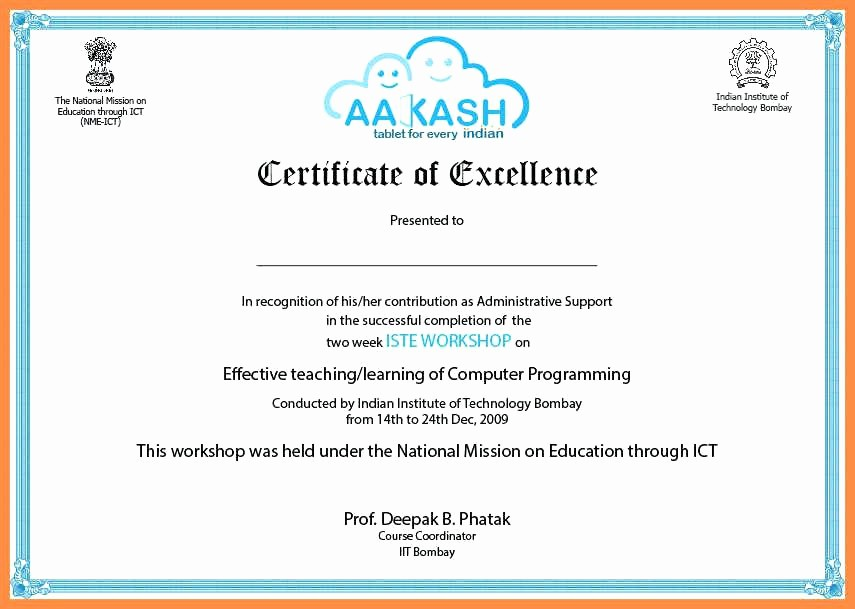 Certificate Of Participation Wording Samples Elegant Certificate Participation Sample Content Fresh