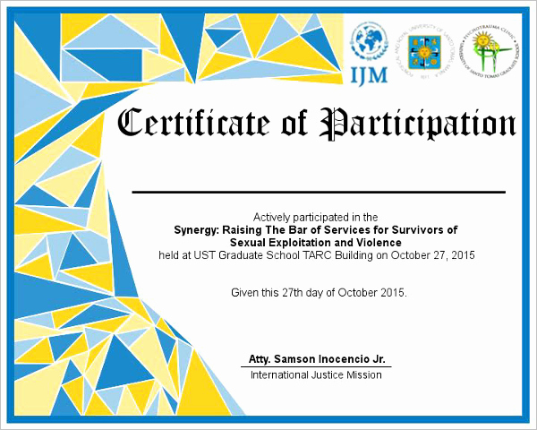 Certificate Of Participation Wording Samples Elegant Participation Certificate Templates Free & Premium