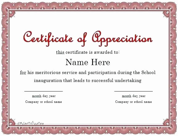 Certificate Of Participation Wording Samples Fresh Certificate Wording Free Certificate Certificate