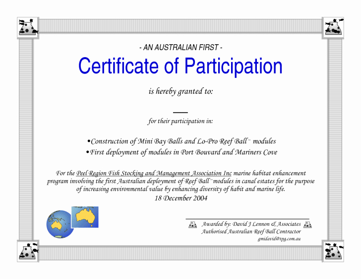 Certificate Of Participation Wording Samples Inspirational Certificate Participation Wording Certificate