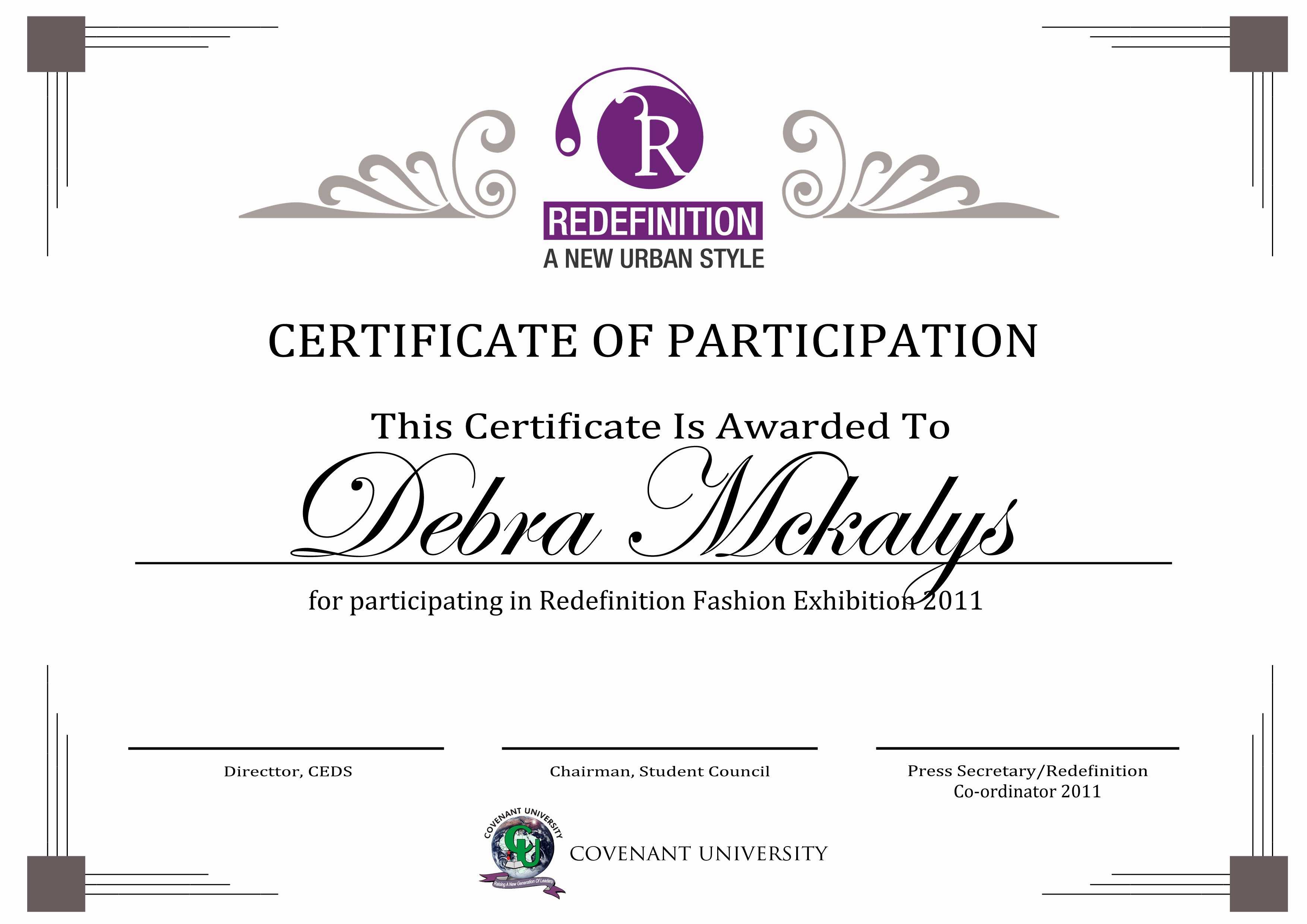 Certificate Of Participation Wording Samples Luxury Redefinition Certificate by Sjkeri On Deviantart