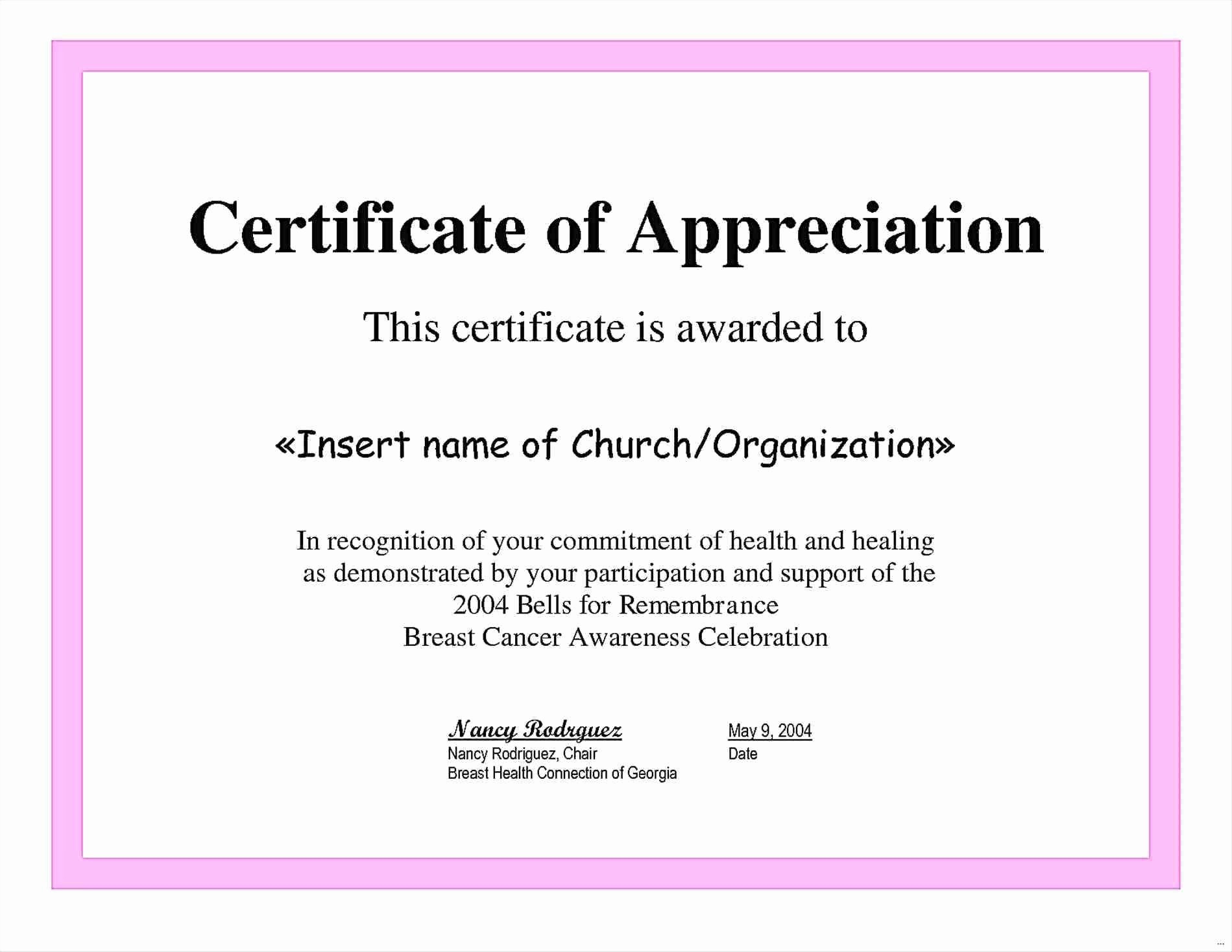 Certificate Of Participation Wording Samples Luxury Sample Plaque Appreciation Template Sample