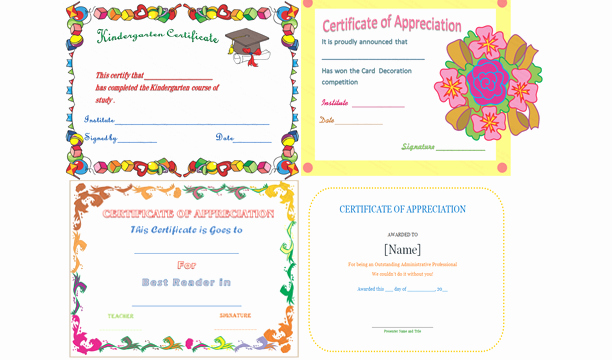 Certificate Of Recognition Editable Template Awesome Editable Certificate Of Appreciation Template Editable