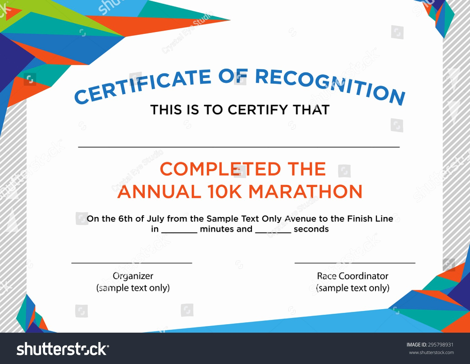 Certificate Of Recognition Editable Template Awesome Futuristic Style Certificate Recognition Sample Text Stock