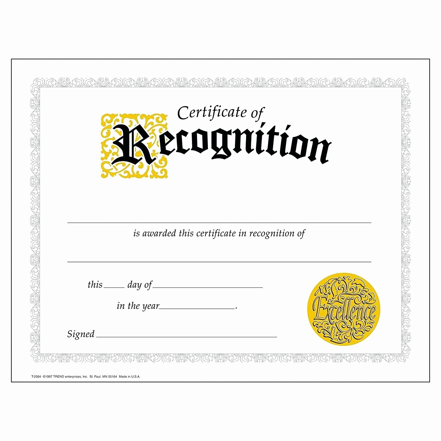 Certificate Of Recognition Editable Template Awesome Template Employee Recognition Award Template