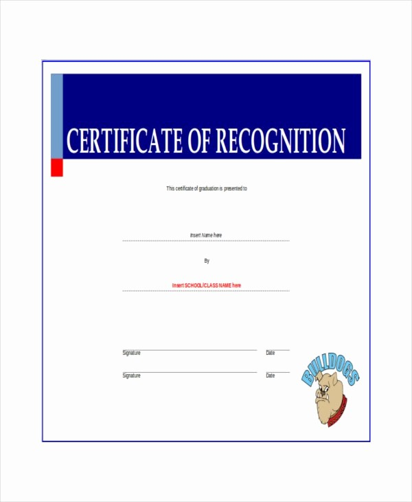 Certificate Of Recognition Editable Template Best Of 20 Certificate Of Recognition Templates Pdf Word