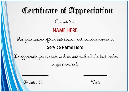 Certificate Of Recognition Editable Template Best Of 20 Free Certificates Appreciation for Employees