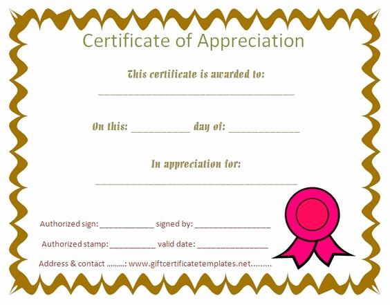 Certificate Of Recognition Editable Template Best Of Certificate Appreciation for Students