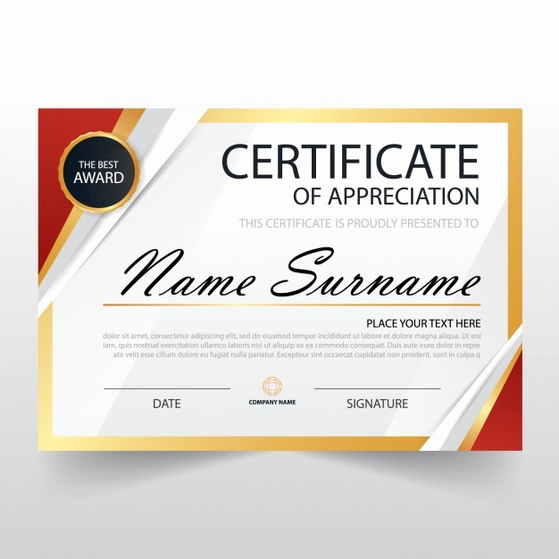 Certificate Of Recognition Editable Template Best Of Modern Certificate Of Appreciation Template Vector