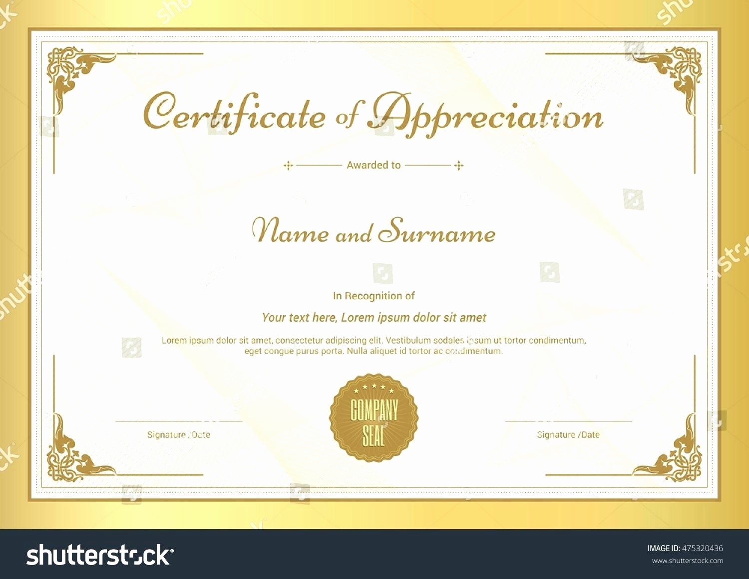 Certificate Of Recognition Editable Template Fresh Template Editable Certificate Appreciation Template
