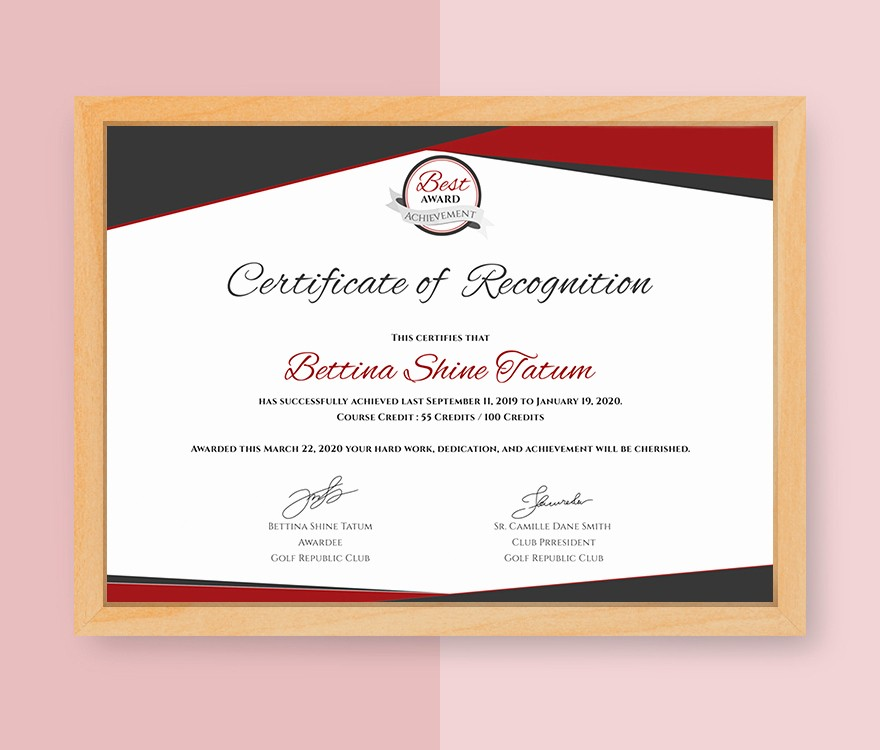 Certificate Of Recognition Editable Template Inspirational Certificate Templates