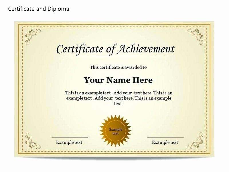 Certificate Of Recognition Editable Template Luxury Certificate Recognition Editable Template Free