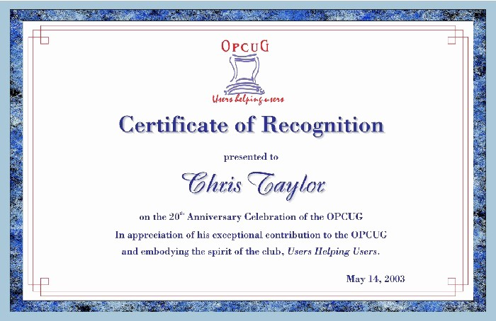 Certificate Of Recognition Editable Template New Appreciation Certificate