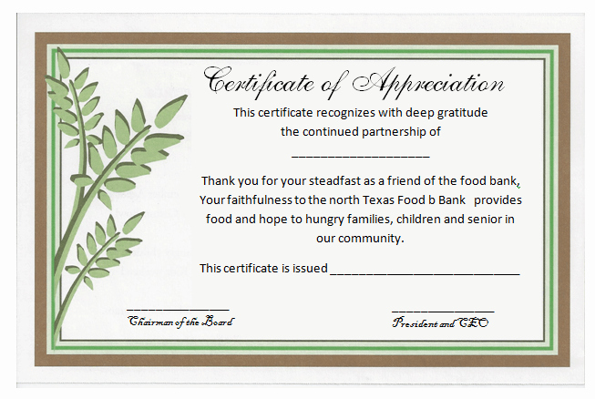Certificate Of Recognition Editable Template New Free Certificate Of Appreciation Template
