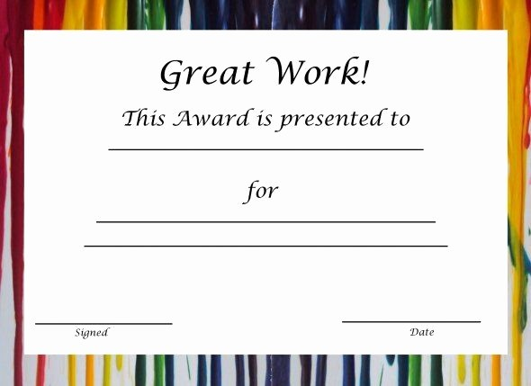 Certificate Of Recognition for Kids Beautiful Free Printable Award Certificates for Elementary Students