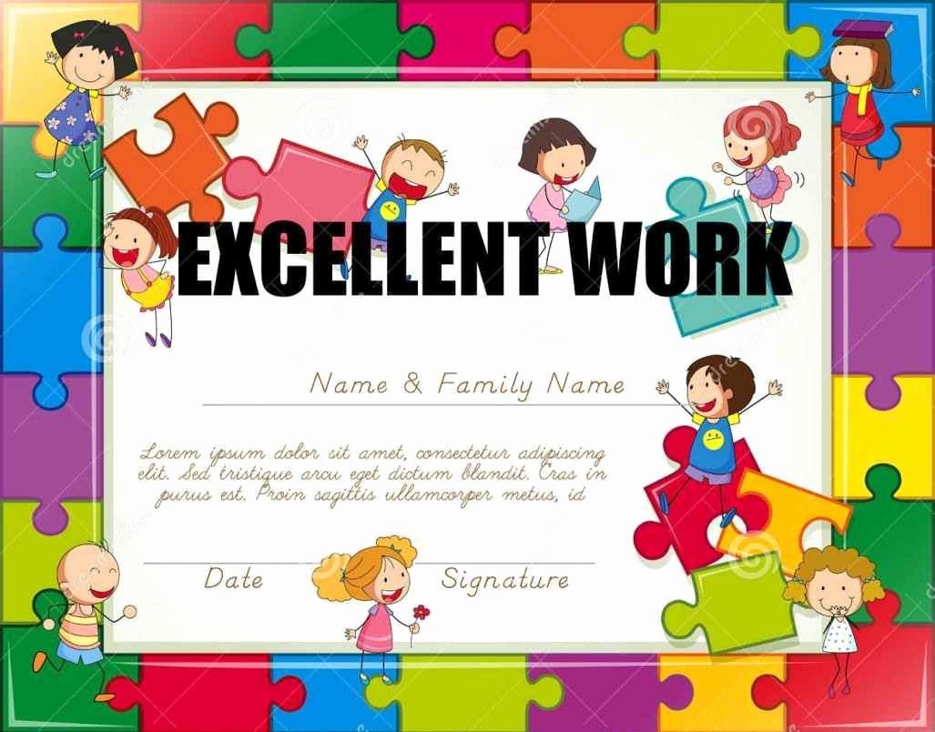 Certificate Of Recognition for Kids Best Of Certificate Pletion for Kids Template Update234