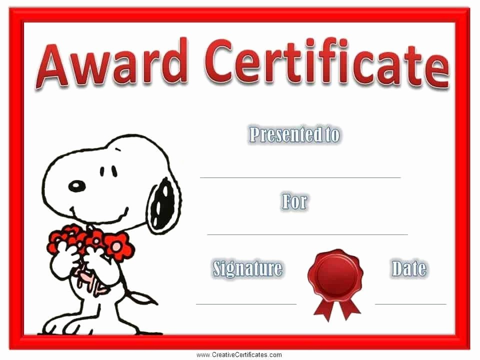 Certificate Of Recognition for Kids Fresh Free Editable Certificate Of Appreciation