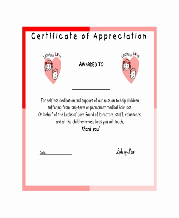 Certificate Of Recognition for Kids Inspirational 19 Certificate Of Appreciation Templates Free Sample