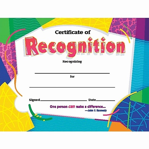 Certificate Of Recognition for Kids Inspirational Award Certificates Certificate Of Recognition