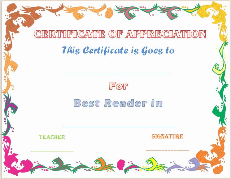 reader certificates