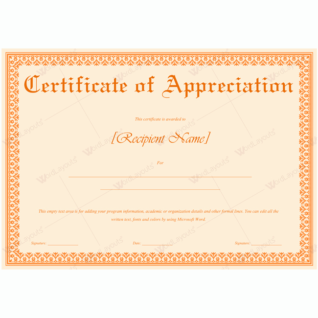 Certificate Of Recognition Template Word Best Of 89 Elegant Award Certificates for Business and School events
