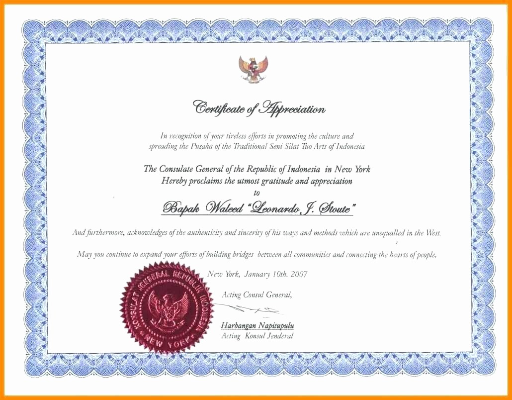 Certificate Of Recognition Template Word Best Of Template Certificate Recognition Template Word
