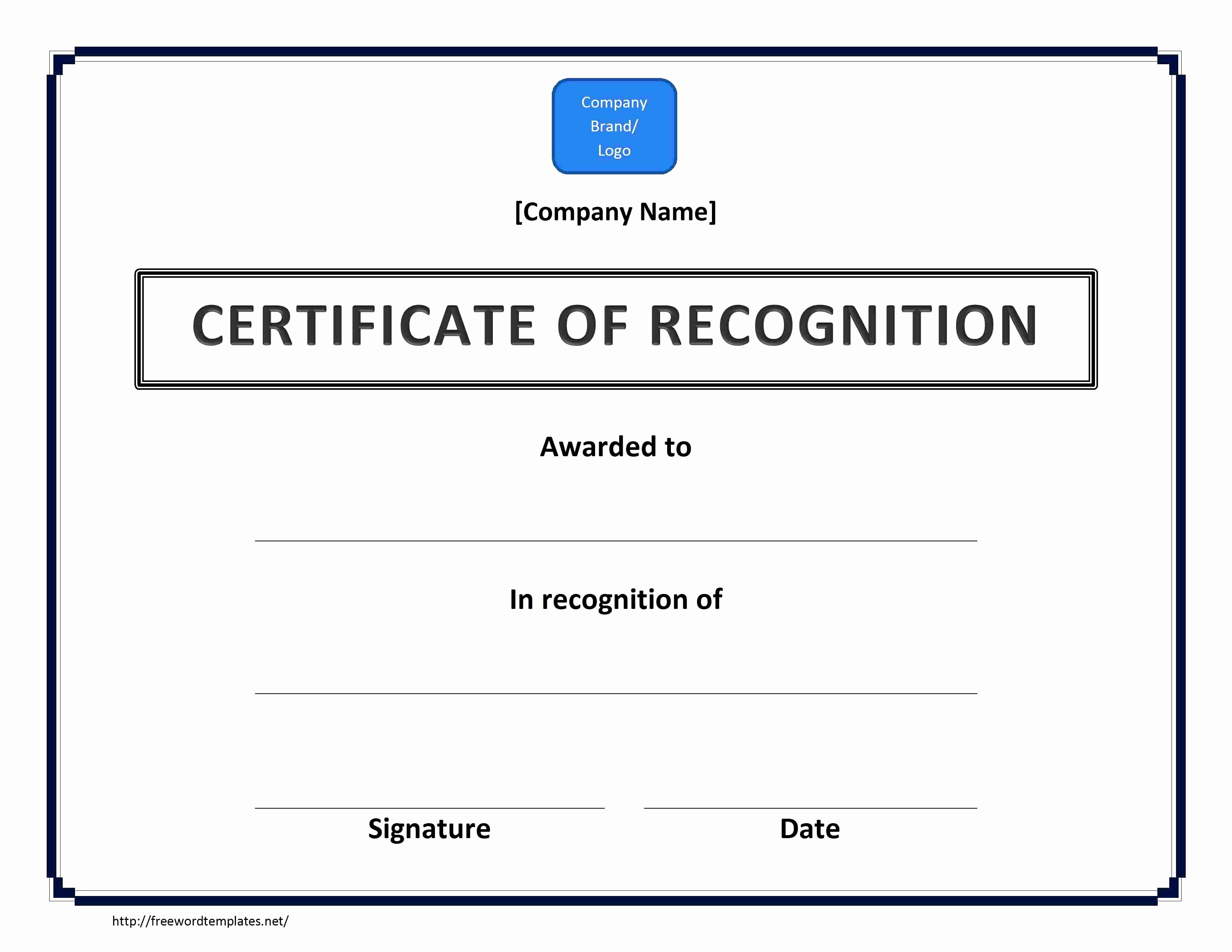 Certificate Of Recognition Template Word Inspirational Army Certificate Achievement Template Example Mughals