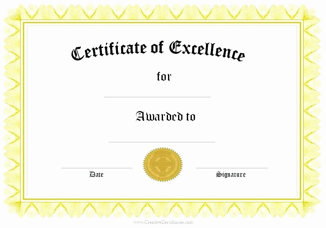 Certificate Of Recognition Template Word Inspirational Certificate Recognition Template Word Editable Award