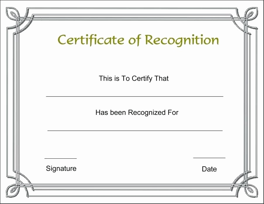 Certificate Of Recognition Template Word New Certificate Recognition Template Word Editable Award