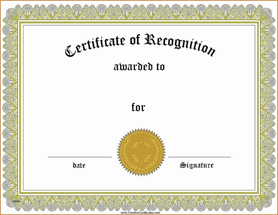 Certificate Of Recognition Template Word Unique Certificate Recognition Template Word Editable Award