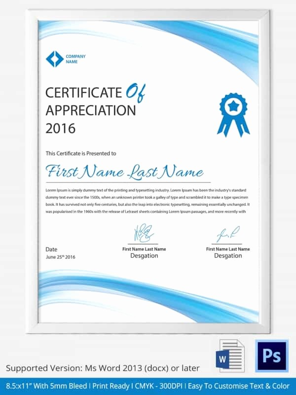 Certificate Of Recognition Template Word Unique Word Certificate Template 31 Free Download Samples