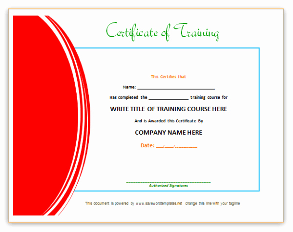 Certificate Of Training Template Word Awesome Training Certificate Template Word format