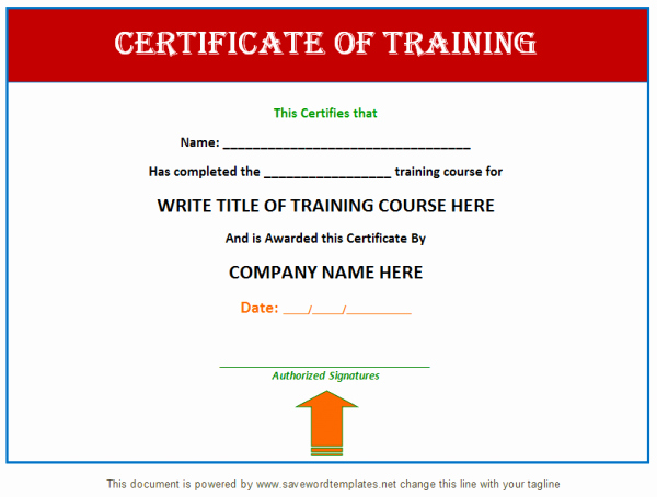 Certificate Of Training Template Word Best Of Professional Training Certificate Templates