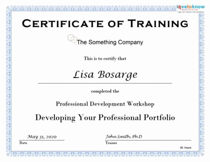 Certificate Of Training Template Word Elegant 15 Training Certificate Templates Free Download Designyep