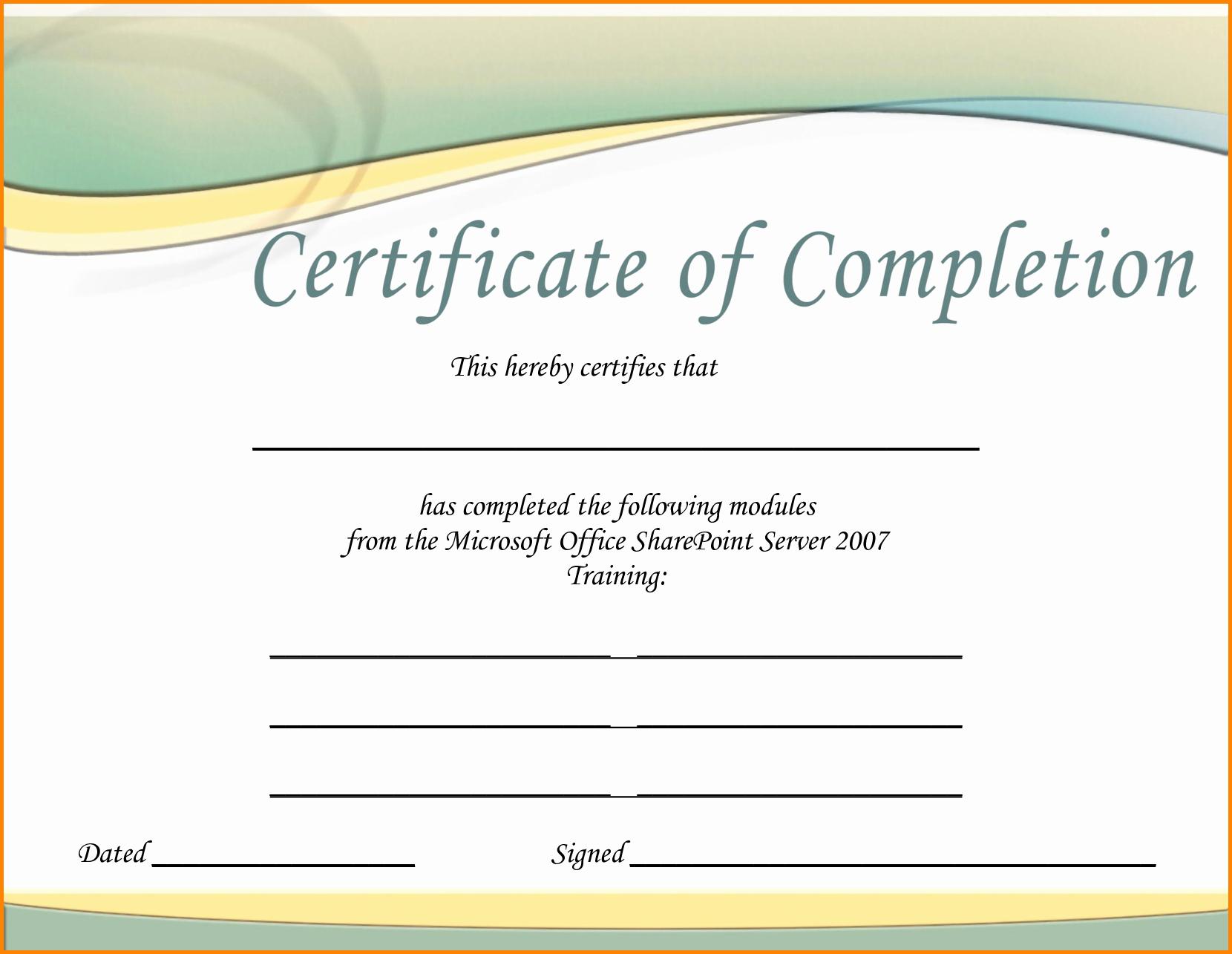 Certificate Of Training Template Word Luxury Training Certificate Template Word Portablegasgrillweber