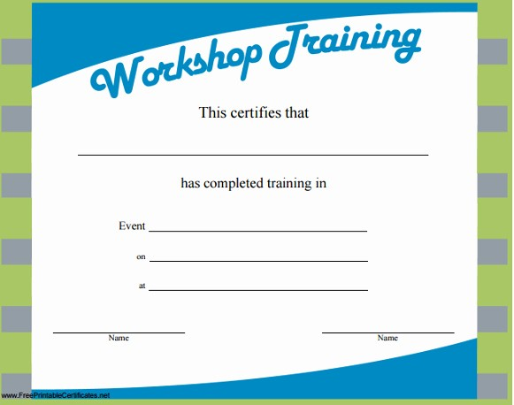 Certificate Of Training Template Word Luxury Training Certificate Template Word Templates Data