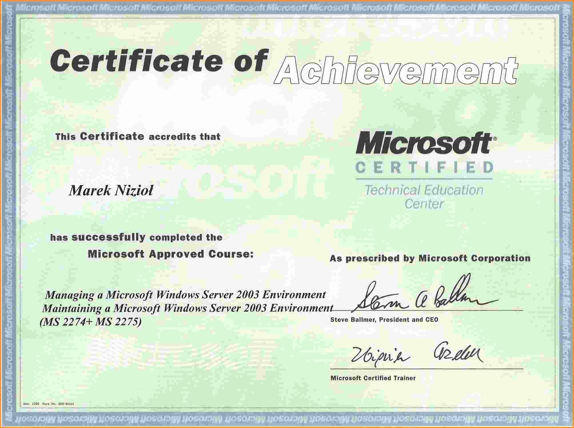 Certificate Templates for Microsoft Word Unique Microsoft Fice Certificate Templates