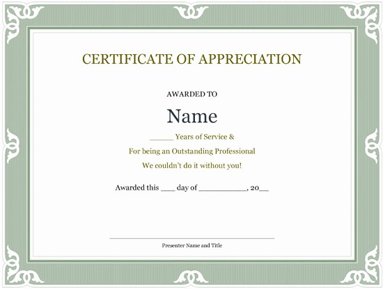 Certificates for Years Of Service Lovely 5 Printable Years Of Service Certificate Templates – Word