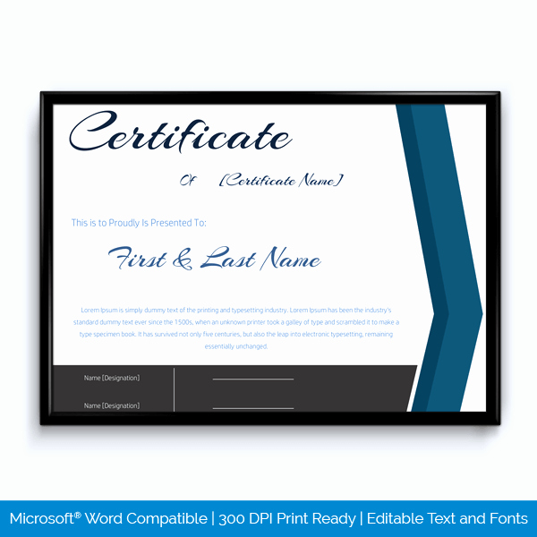 Certificates for Years Of Service Lovely 89 Elegant Award Certificates for Business and School events