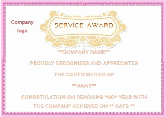 Certificates for Years Of Service Lovely Employee Anniversary Certificate Template 12