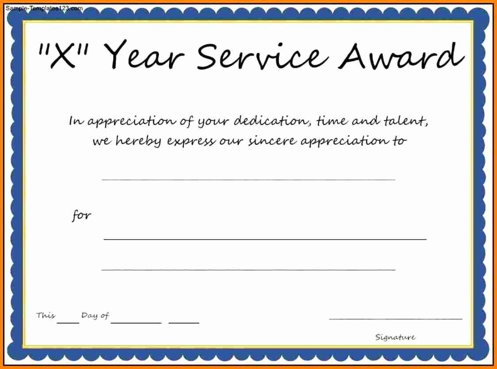 Certificates for Years Of Service Lovely Years Of Service Award Templates