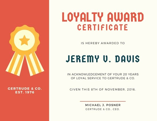 Certificates for Years Of Service Unique Customize 534 Award Certificate Templates Online Canva