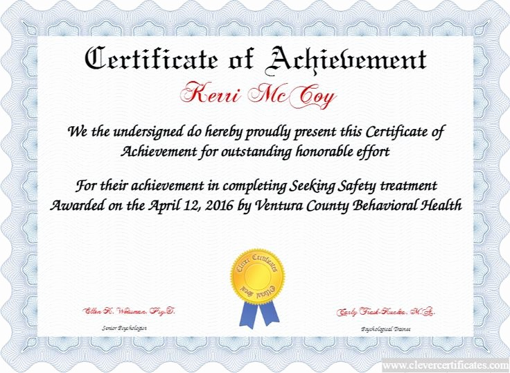 Certificates Of Achievement for Students Awesome Certificate Of Achievement Free Certificate Templates for