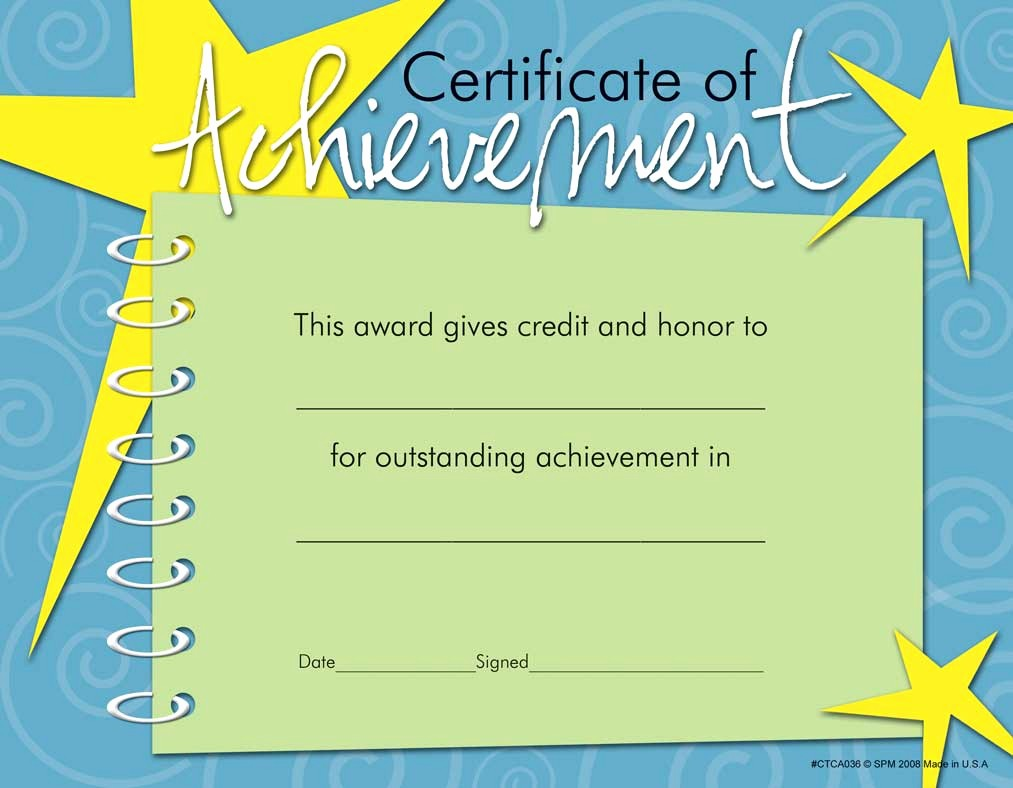 Certificates Of Achievement for Students Beautiful 10 Best Of Certificate Achievement Achievement