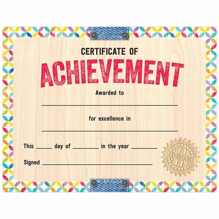 Certificates Of Achievement for Students Beautiful This Colorful and Rustic Looking Upcycle Style Certificate