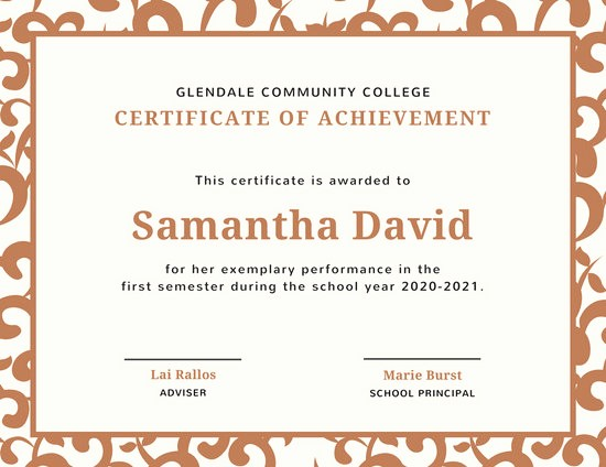 Certificates Of Achievement for Students Elegant Customize 90 Student Certificate Templates Online Canva