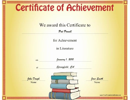 Certificates Of Achievement for Students Inspirational 1000 Images About Student Achievement Awards On Pinterest