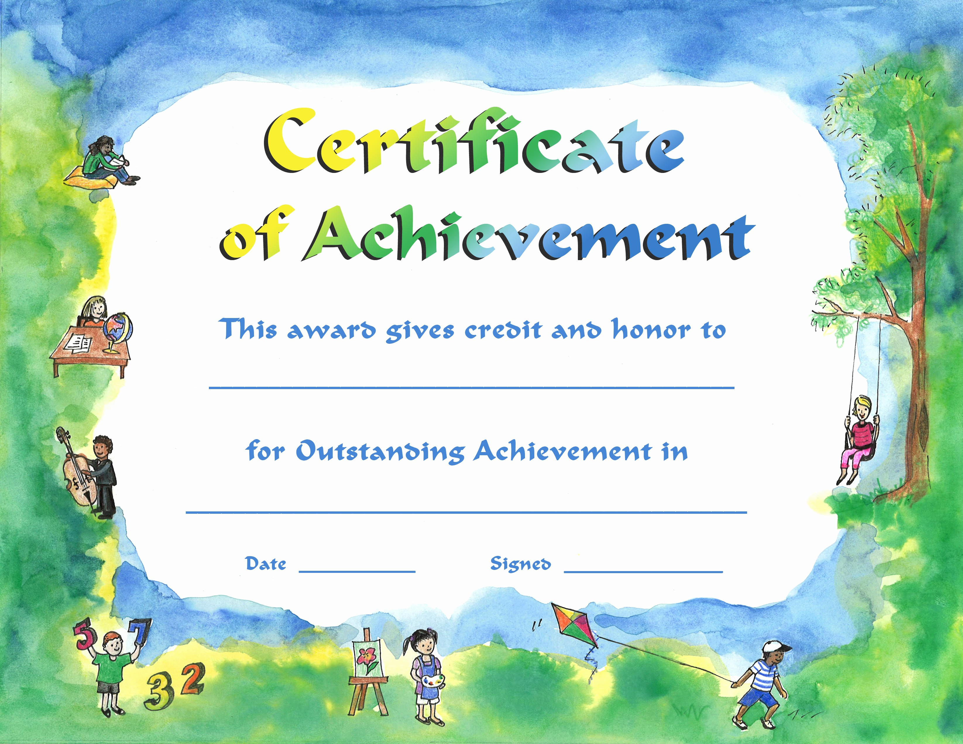 Certificates Of Achievement for Students Luxury Catalog Code Pap509 Kaleidoscope Download Product Pap509