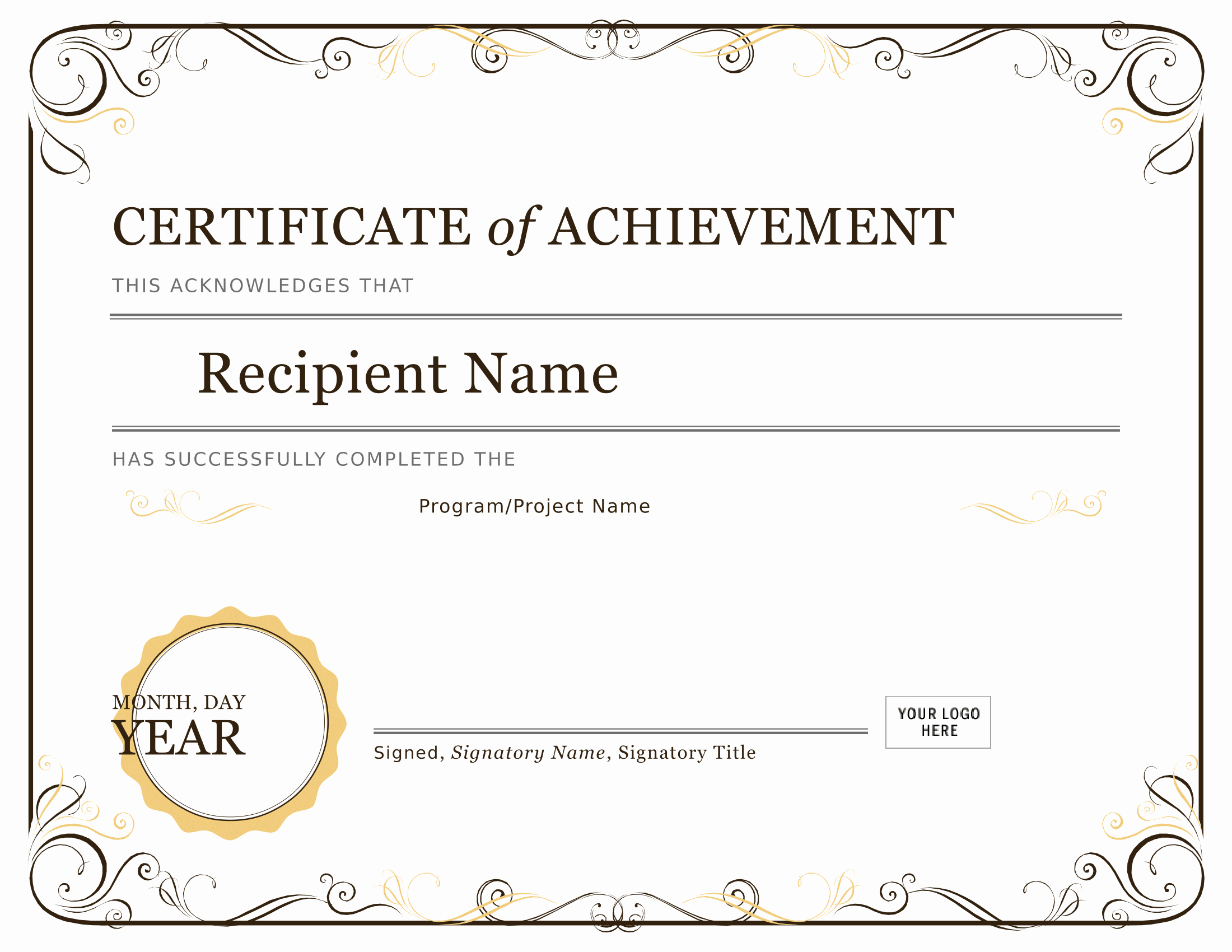 Certificates Of Achievement for Students Luxury Certificates Download Free Business Letter Templates
